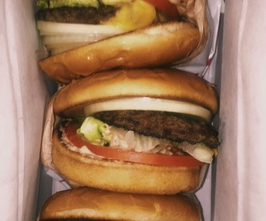 burger, food, and in n out image