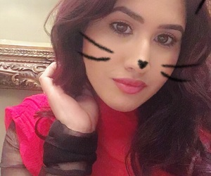 cat, selfie, and girls with style image