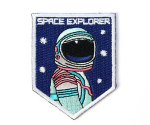 astronaut, patch, and patches image