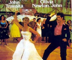 John Travolta, Olivia Newton-John, and grease (1978) image