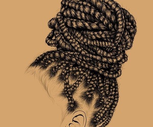 girl, art, and braids image
