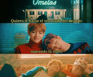 bts, frases en español, and spring day image