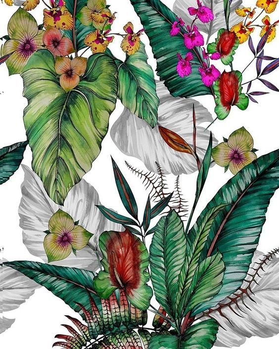 flowers, print, and wallpaper image