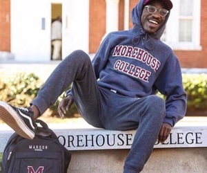 black, college, and happiness image