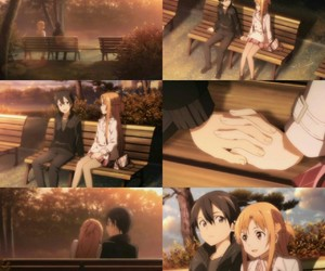 anime, sword art online, and kirito y asuna image