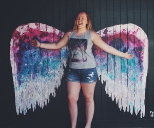 angel, summer, and wings image