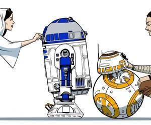 fan art, Princess Leia, and r2d2 image
