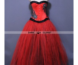 gothic dress, gothic prom dress, and gothicparty dress image