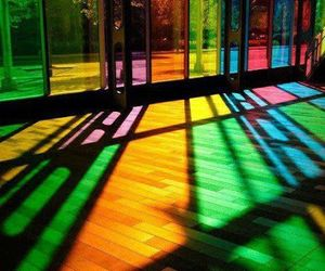 colors, rainbow, and glass image