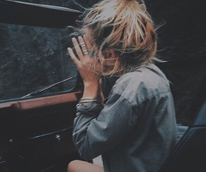 girl, hair, and car image