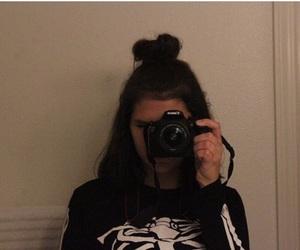 camera, dark, and girl image