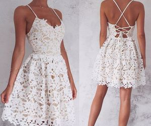 dress, short homecoming dresses, and white image