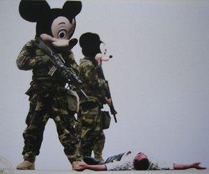 mickey, gun, and disney image