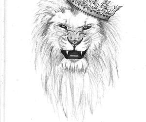 art, tattoo, and lion tattoo image
