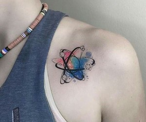 tattoo, atom, and tatto image