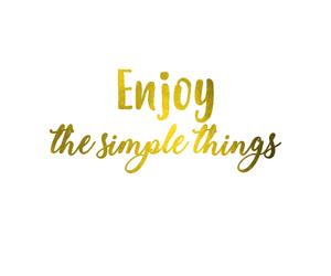 enjoy, font, and gold image