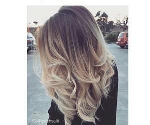 blonde, hair, and makeup image
