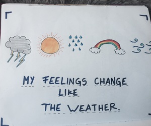 feelings, notebook, and quotes image
