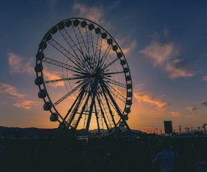 coachella, sunset, and music image