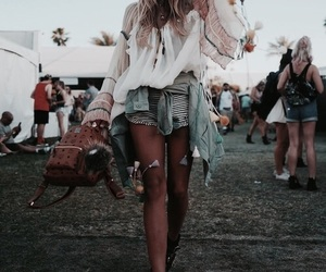 coachella, fashion, and festival image