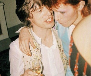 david bowie, mick jagger, and rock image