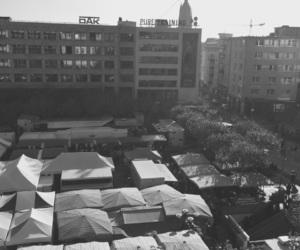 black&white, frankfurt, and work image