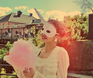 boy, cotton candy, and unicorn image