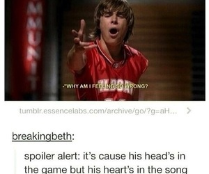 funny, high school musical, and zac efron image