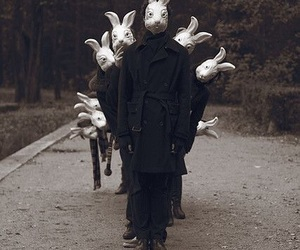 rabbit, bunny, and creepy image