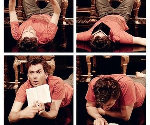 david tennant, book, and doctor who image