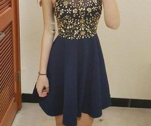 prom dress and navy homecoming dresses image