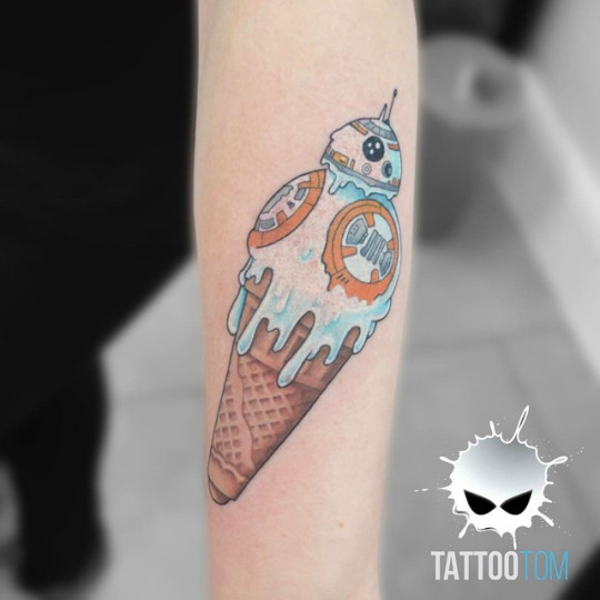 ice cream, tattoo, and art image