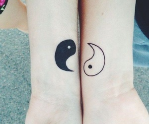 tattoo, sisters, and yin yang image