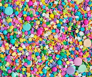 food, sprinkles, and lots of colors image