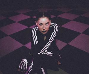 adidas, black and white, and music image