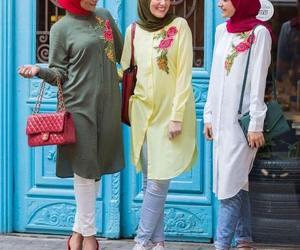 hijab and shirt dress outfit image