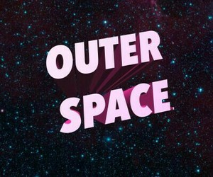 pink, space, and stars image