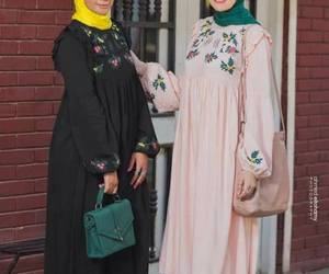 hijab and shirt dress outfit image
