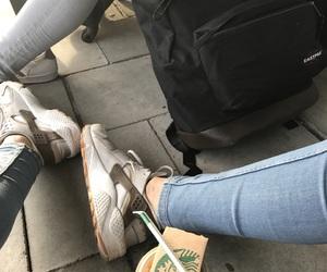 backpack, coffee, and huarache image