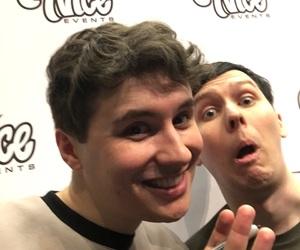 dan and phil, amazingphil, and danisnotonfire image