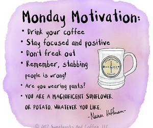 coffee, motivation, and girl image