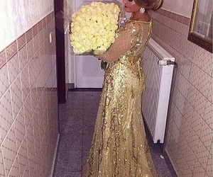flowers, dress, and moroccan image