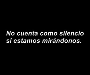 love, frases, and silence image