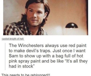 supernatural, sam winchester, and funny image
