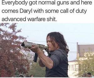 guns, normal, and norman reedus image