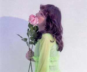 snsd, taeyeon, and flowers image
