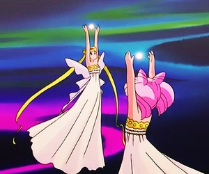 sailor moon, chibiusa, and neo queen serenity image