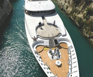 luxury, sea, and yacht image