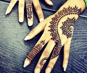 henna, nails, and pretty image