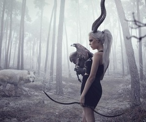 forest, girl, and bow image